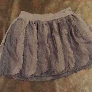 Gray girls skirt